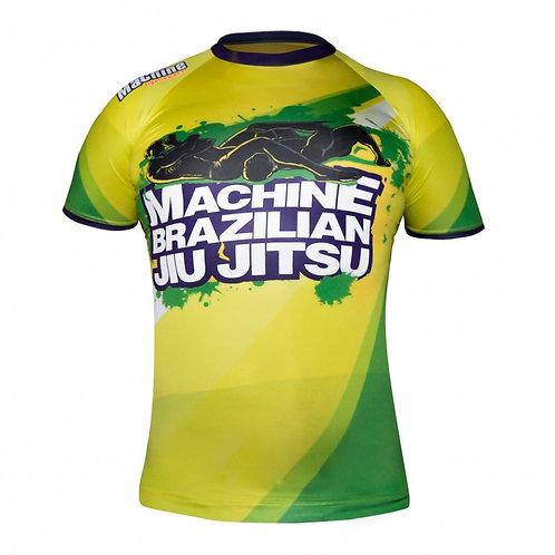Rashguard MACHINE BRAZILIAN JIU JITSU - krátký rukáv