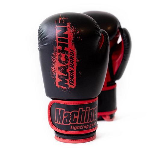 Boxerské rukavice Machine Train Hard – černo-červené