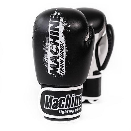 Boxerské rukavice Machine Train Hard – černo-bílé