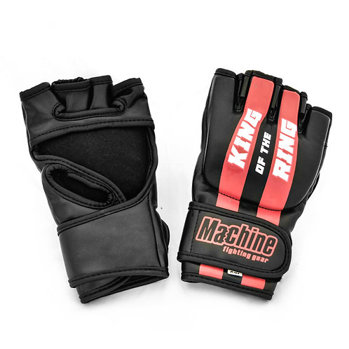 MMA rukavice Machine King Of The Ring FAST - černo/červené