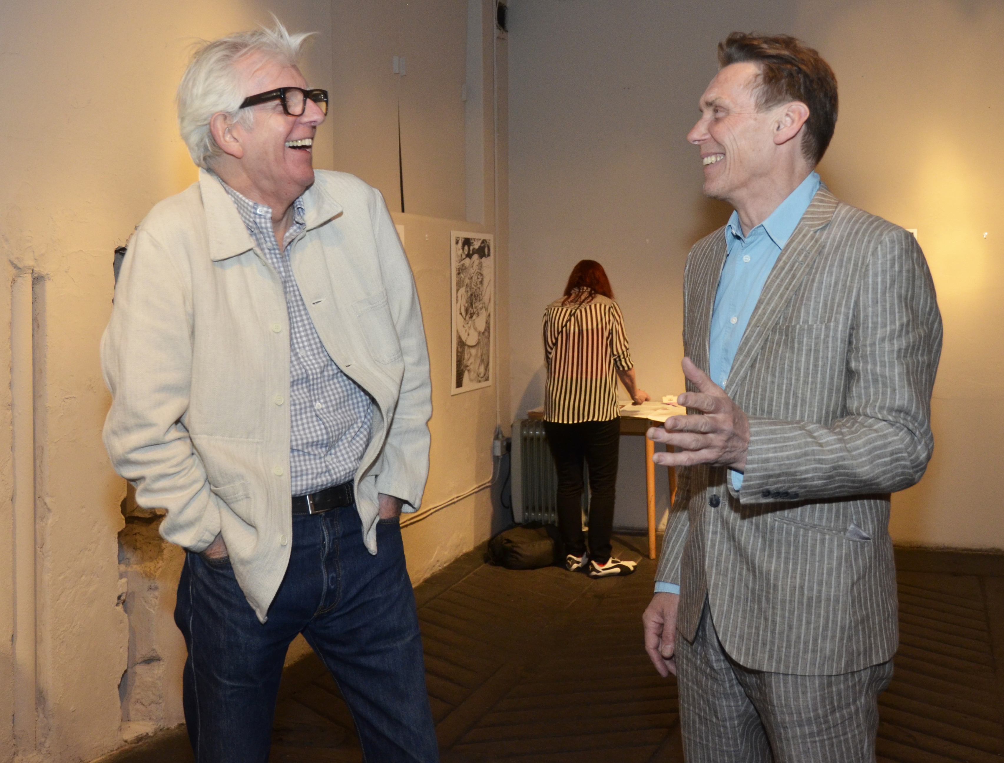 Nick Lowe and William chatting
