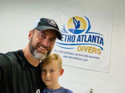 Coach Jonathan and his son Lucas