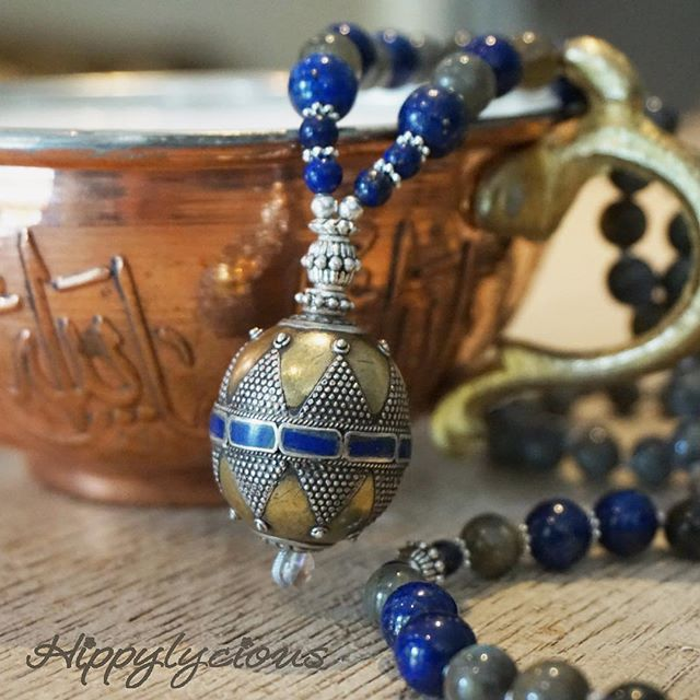 Admiring the stunning Guardian Mala while enjoying a warm cup of Turkish sahlep tea (if you haven't