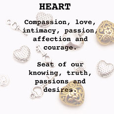 heart jewelry charms love passion courage truth desires intimacy affection