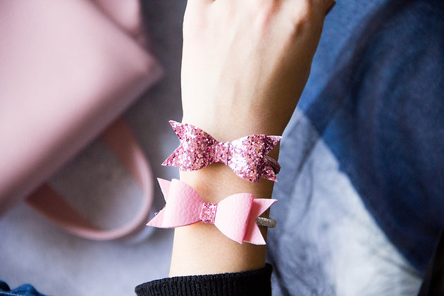 Elastiki za lase/zapestnici - roza