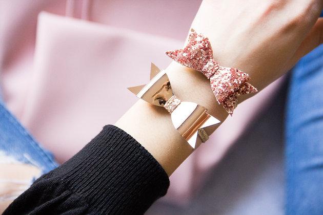 Elastiki za lase/zapestnici - rožnato zlata