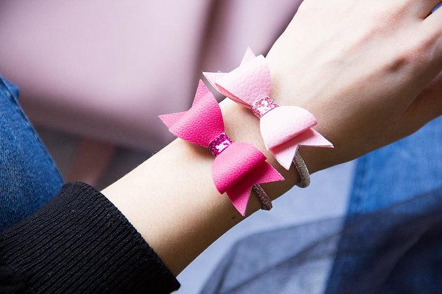 Elastiki za lase/zapestnici - roza, pink