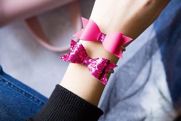 Elastiki za lase/zapestnici - pink