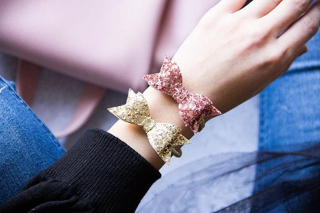 Elastiki za lase/zapestnici - zlata, rožnato zlata