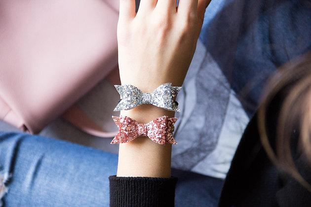 Elastiki za lase/zapestnici - srebrna, rožnato zlata