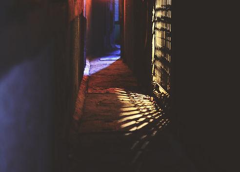 puerta de entrada de luz