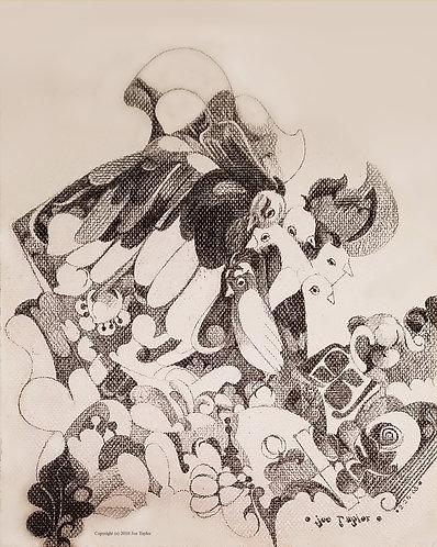 "Canvas print of ""Birds Watching."""