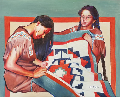"""Canvas print of """"Finishing Touches For Little Sister"""""""