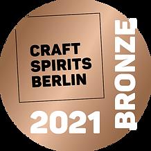 Nagrada za bronasti slovenski Karakter gin podeljena s strani Craft Spirits Berlin