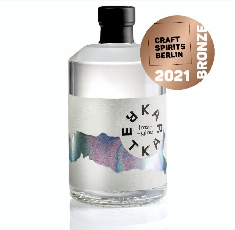 Slovenian Imagine dry gin awarded bronze medal at Craft Spirits Berlin festival 2021