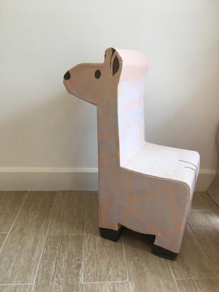 chaise giraffe enfant en carton
