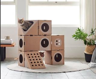 cabanne a chat en carton plusieurs étages