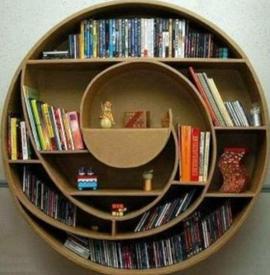 biblitohèque spirale murale en carton