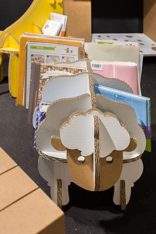 mouton carton rangement livres enfants
