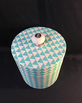 boite cylindrique turquoise vu dessus.jp