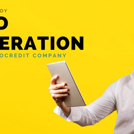 EVO case study: Lead generation for a credit company (micro-finance)