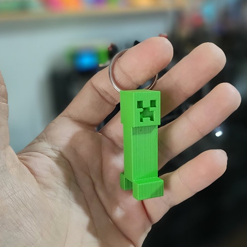 Creeper Minecraft Jogo Chaveiro
