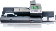 ultimail digital postage meter with feeder and postage scale