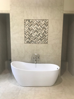Stand Alone Tub with Custom Inlay