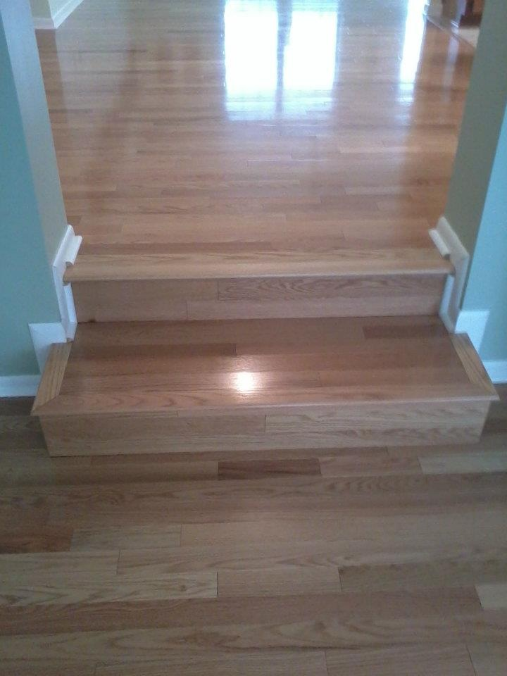 Red Oak Wood Steps
