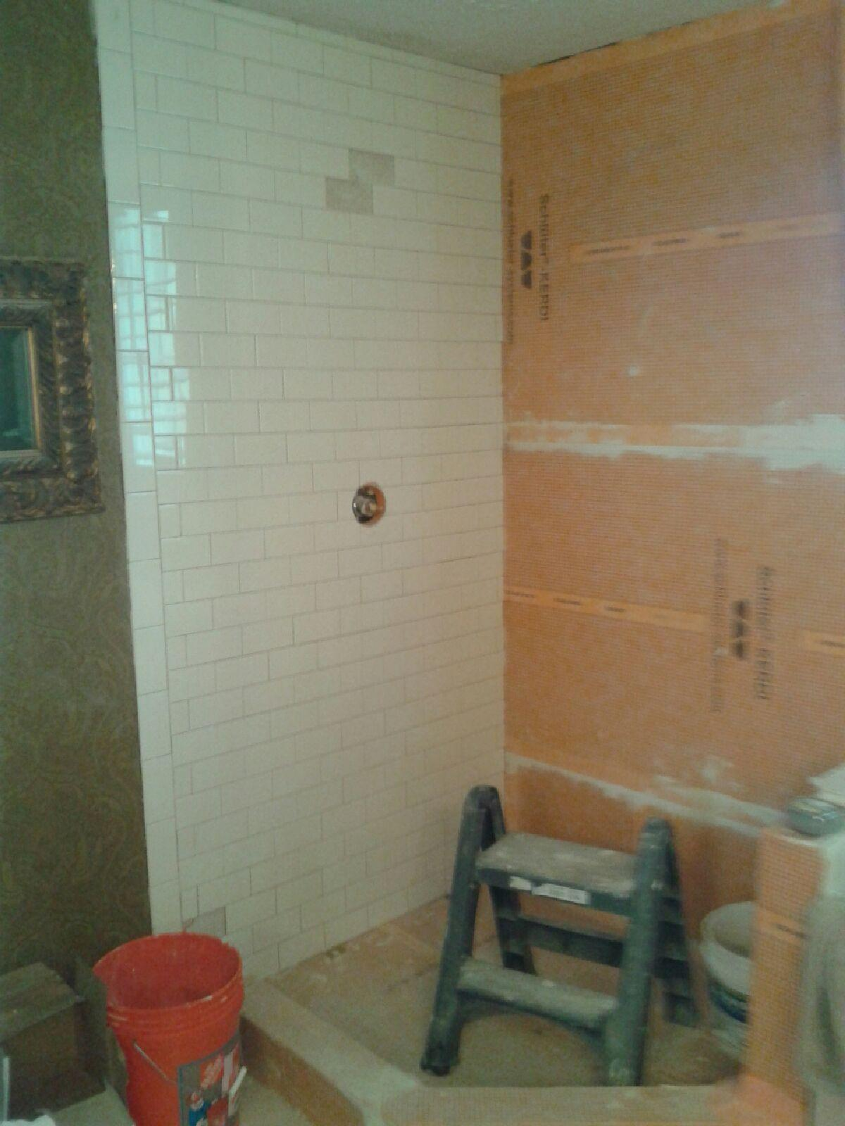 Subway Tile Shower Install