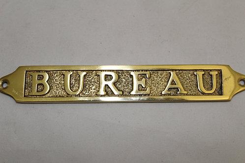 Brass (BUREAU) sign - J17
