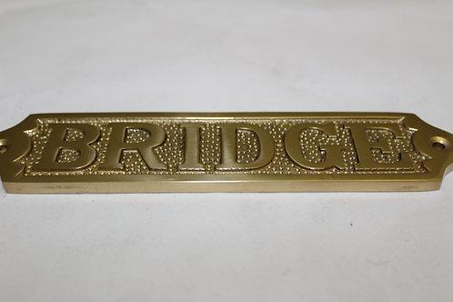 Brass (BRIDGE) sign - J2