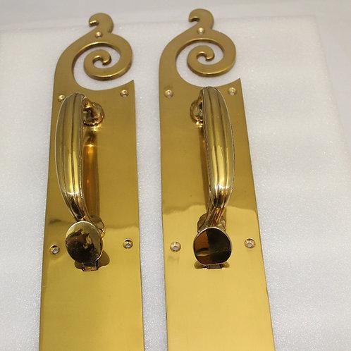 Door handle w/thumb latch - K22