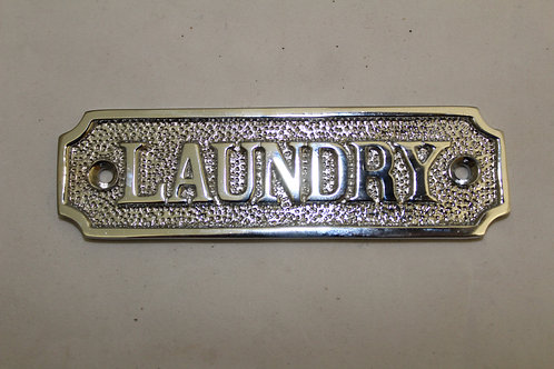 Chrome (LAUNDRY) sign - J6