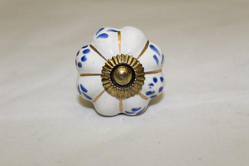Blue Flower Cabinet Knob - B18