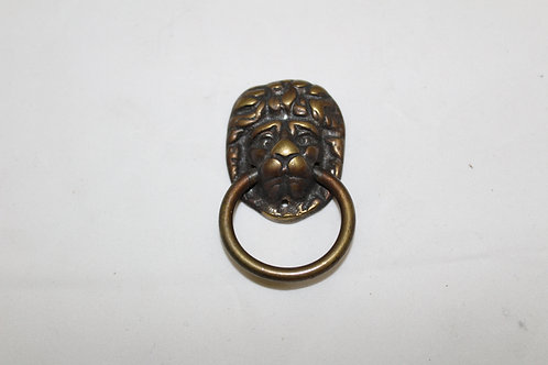 Antiquated Brass Lion Cabinet Drop Pull - A23