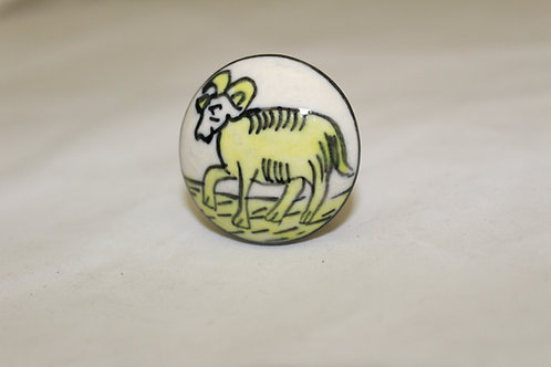 Aries Cabinet Hand-painted Knob