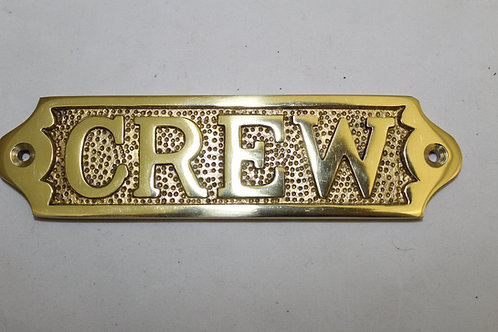 Brass (CREW) sign - J5