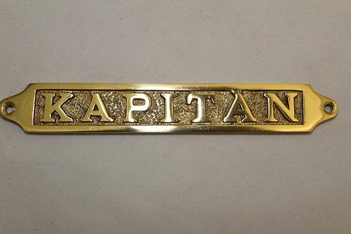 Brass (KAPITAN) sign - J13