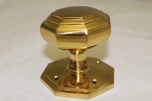 Octagonal Brass Door Knob Set - G14