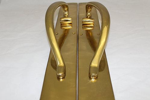 Solid Brass Large Door Handle - K17