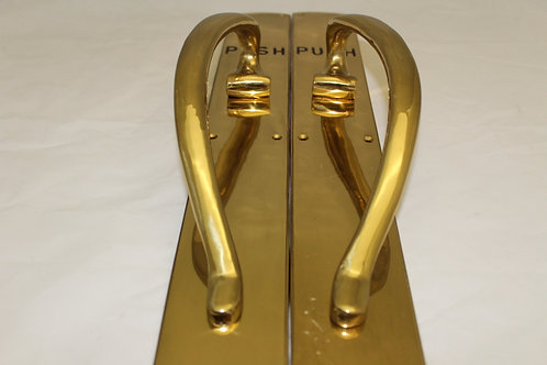 Solid Brass Push Door Handle - K18