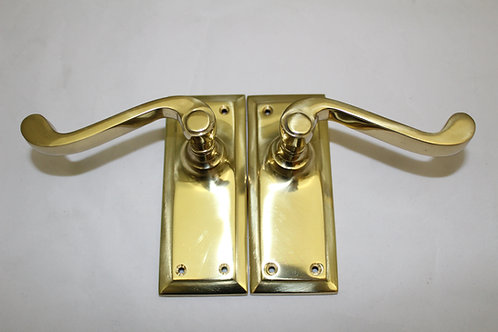 Brass lever door handle - G10