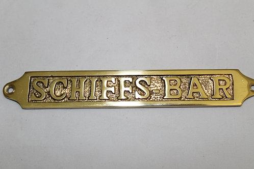 Brass (SCHIFFS- BAR) sign - J15