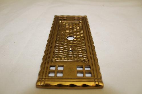 Cast brass light switch plate - K3