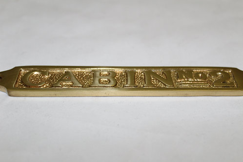 Brass (CABIN NO2) sign - J16