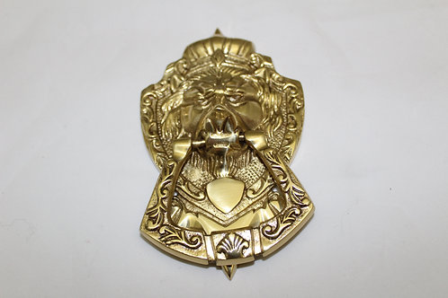 Golden Royal Lion Door Knocker