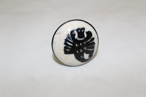 Pretty Scorpio Ceramic Cabinet Knob - B14