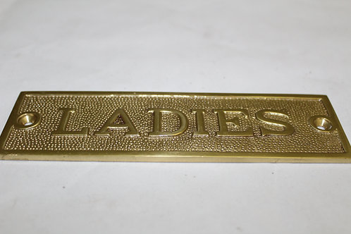 Brass (LADIES) sign -M31