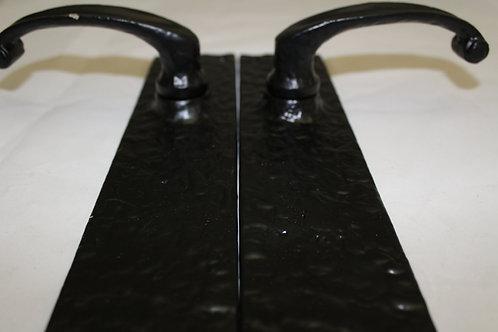 Hammered Iron Door Handle Set - N13